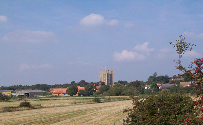 View of Orford near Woodbridge